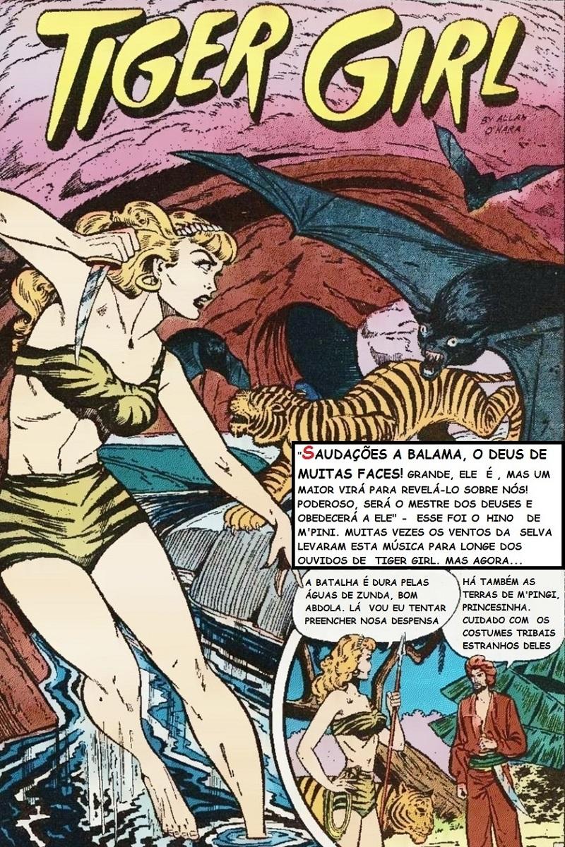 Os super-heróis não foram o único gênero de sucesso na Golden Age Comics, os heróis da selva - como a Tiger Girl - também eram populares