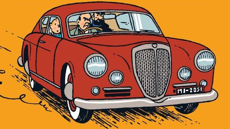 Citroën marcou presença nas aventuras de Tintim