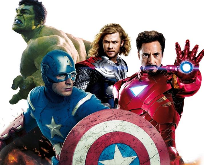 Os Vingadores The Avengers - A equipe formada pelos super-heróis da Marvel em ação!