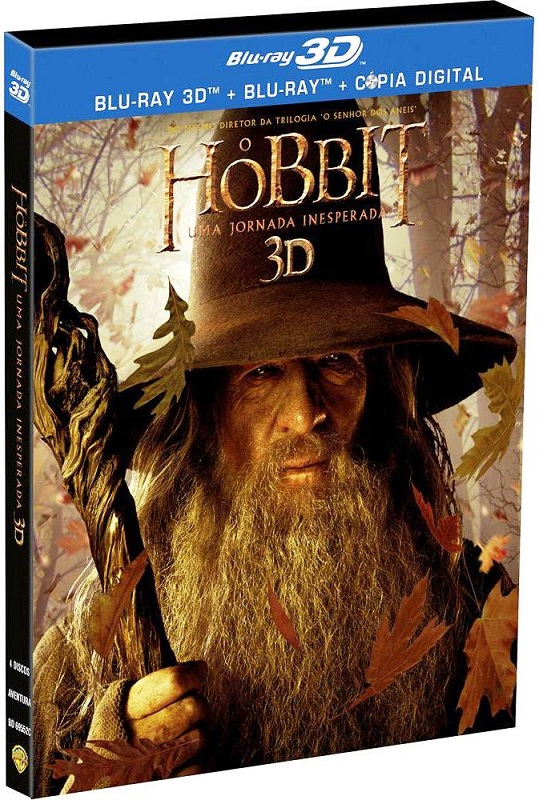 O Hobbit Blu-ray 3D + Blu-ray + Copia Digital 4 DISCOS