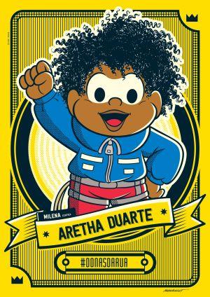 Turma da Mônica homenageia Aretha Duarte