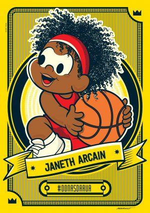 Turma da Mônica homenageia Janeth Arcain